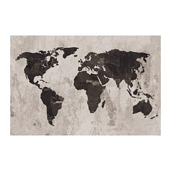PJÄTTERYD - PJÄTTERYD, gambar, World map III, 118x78 cm