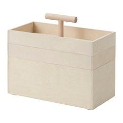 RÅVAROR - Box penyimpanan, plywood kayu birch, 36x18x31 cm