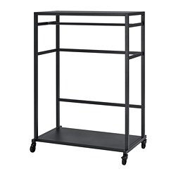 RÅVAROR - Storage unit on castors, black