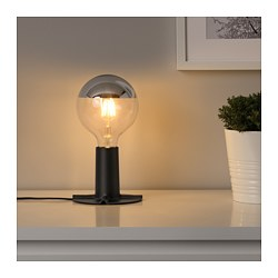 SKALLRAN - Table lamp base, dark grey/metal