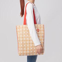 SOLGLIMTAR - Bag, white/brown