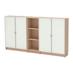 BILLY/MORLIDEN - Rak buku, veneer kayu oak diwarnai putih