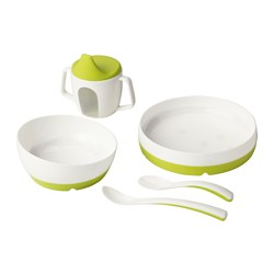 BÖRJA/SMÅGLI - 5-piece eating set
