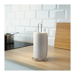 TORKAD - Kitchen roll holder, silver-colour