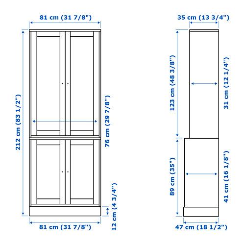 HAVSTA kombinasi penyimpanan dengan pintu