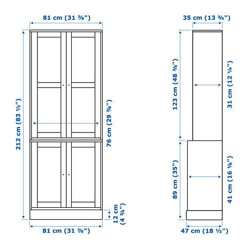 HAVSTA kombinasi penyimpanan dg pintu kaca