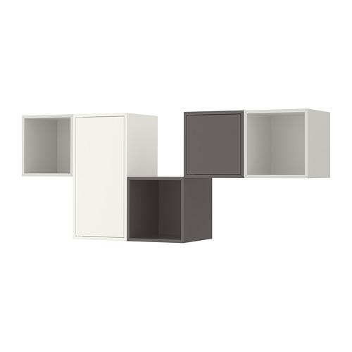 EKET - kombinasi kabinet dpasang di dnding, putih/abu-abu muda/abu-abu gelap, 175x35x70 cm   IKEA Indonesia - PE713344_S4