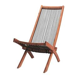 BROMMÖ - Lounger, outdoor, brown stained