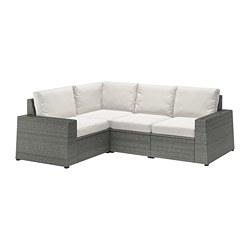 SOLLERÖN - Sofa sdt 3 ddkn mdlr, luar ruangan, abu-abu tua/Frösön/Duvholmen krem