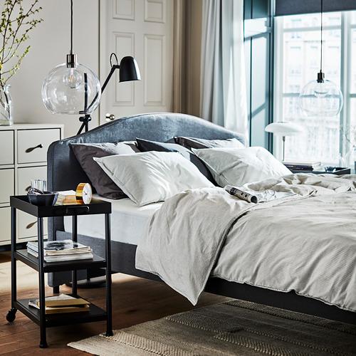 HAUGA upholstered bed frame