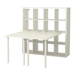 KALLAX - Kombinasi meja, putih
