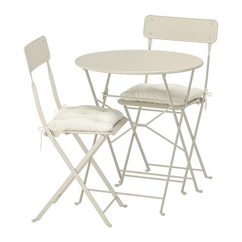 SALTHOLMEN meja+2 kursi lipat, luar rg