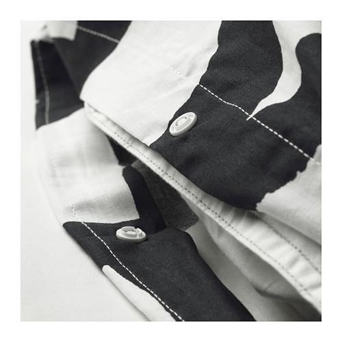 SKUGGBRÄCKA sarung quilt dan 2 sarung bantal