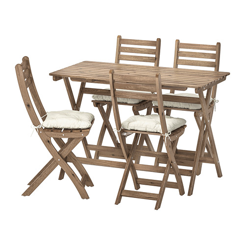 ASKHOLMEN table+4 folding chairs, outdoor
