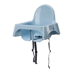ANTILOP - Seat shell for highchair, light blue