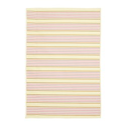 SOMMAR 2020 - Rug flatwoven, in/outdoor, striped/pink/yellow