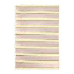 SOMMAR 2020 - Karpet anyaman datar, dlm/lr rngn, garis-garis/merah muda/kuning