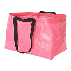 SLUKIS - Carrier bag, large, pink