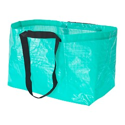 SLUKIS - Carrier bag, large, turquoise
