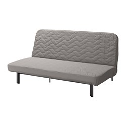 NYHAMN - 3-seat sofa-bed, with pocket spring mattress/Knisa grey/beige