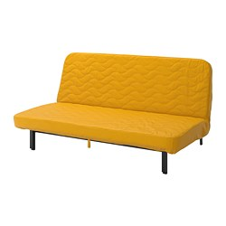 NYHAMN - 3-seat sofa-bed, with pocket spring mattress/Skiftebo yellow