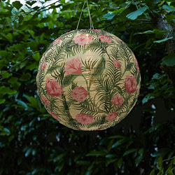 SOLVINDEN - LED solar-powered pendant lamp, outdoor/globe flower