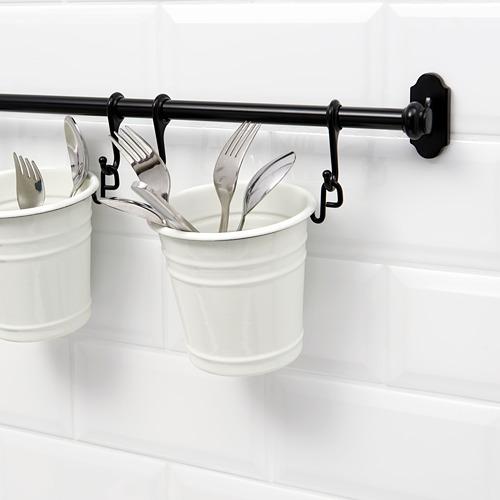 FINTORP - tempat peralatan makan, putih/hitam, 13x13 cm | IKEA Indonesia - PE609173_S4