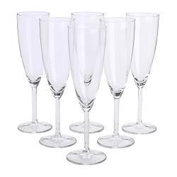 SVALKA - Champagne glass, clear glass