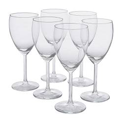 SVALKA - White wine glass, clear glass