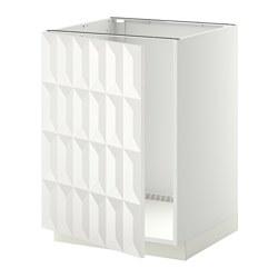 METOD - Base cabinet for sink, white/Herrestad white