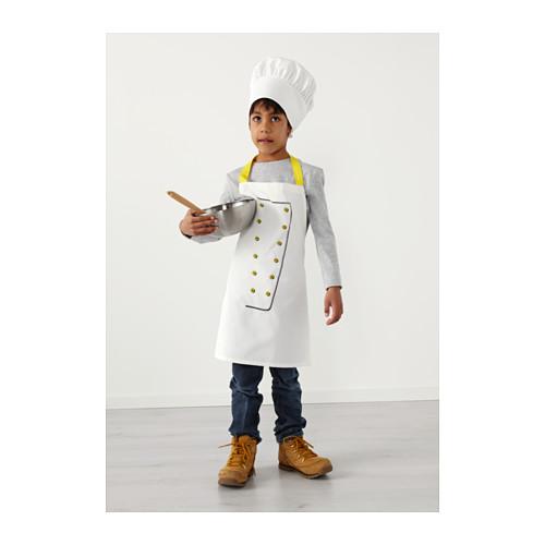 TOPPKLOCKA celemek anak dengan topi koki