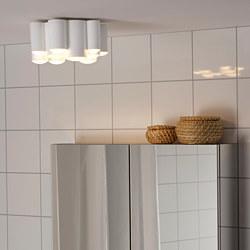 SÖDERSVIK - Lampu plafon LED, dapat diredupkan glossy/putih