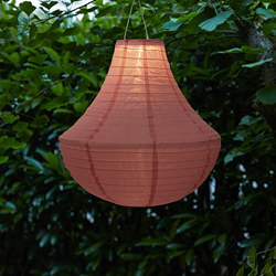 SOLVINDEN - Lampu gantung LED tenaga surya, luar ruang/merah muda