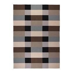 STOCKHOLM - Karpet, anyaman datar, buatan tangan/berpetak cokelat