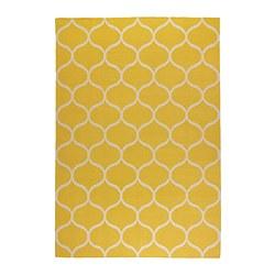 STOCKHOLM - Karpet, anyaman datar, buatan tangan/pola jaring kuning