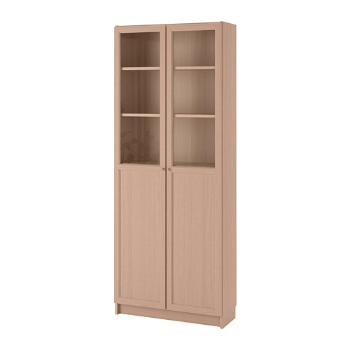 BILLY lemari buku dg panel/pintu kaca
