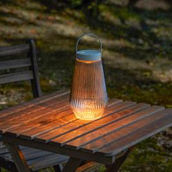 SOLVINDEN - Lampu LED, luar ruang/dioperasikan dengan baterai kaca bening