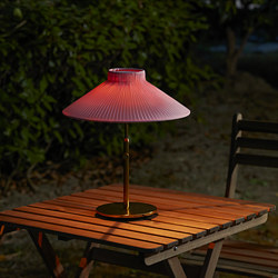 SOLVINDEN - LED solar-powered table lamp, outdoor pink
