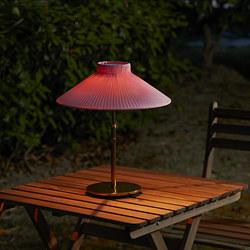 SOLVINDEN - Lampu meja tenaga surya LED, luar ruang merah muda