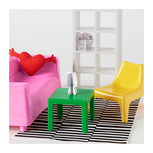 HUSET doll's furniture, living-room