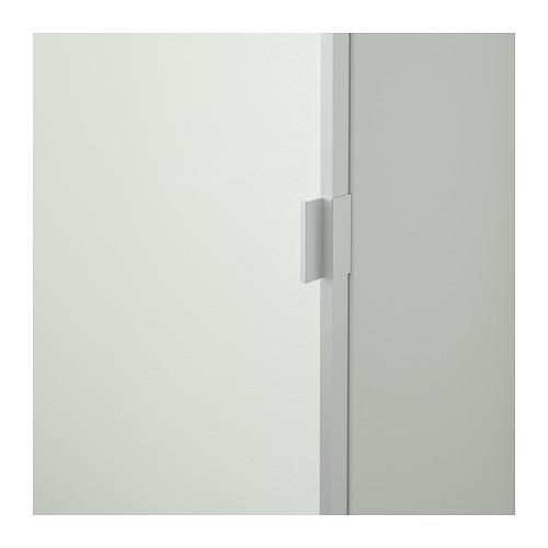 BILLY/MORLIDEN rak buku dengan pintu kaca