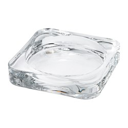GLASIG - Candle dish, clear glass