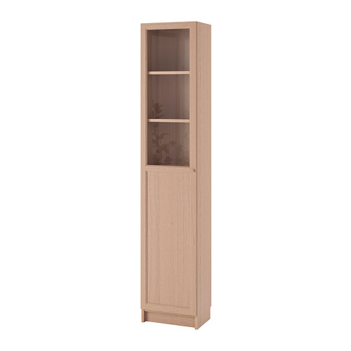 BILLY/OXBERG lemari buku dg panel/pintu kaca