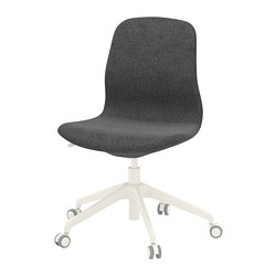 LÅNGFJÄLL - Office chair, Gunnared dark grey/white