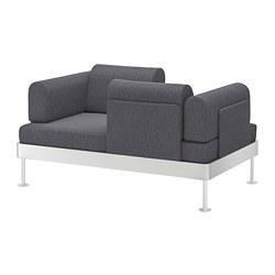 DELAKTIG - 2-seat sofa, Gunnared medium grey