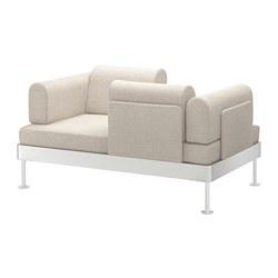DELAKTIG - Sofa 2 dudukan, Gunnared krem