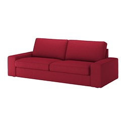 KIVIK - Three-seat sofa, Orrsta red