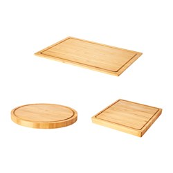 OLEBY - Chopping board, set of 3, bamboo