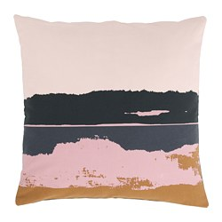 ELDTÖREL - Cushion cover, pink/multicolour