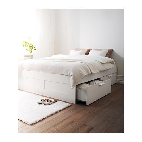 BRIMNES rangka tempat tidur dg penyimpanan